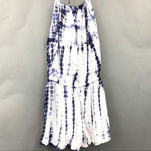 Lulu's Tie Dye Romper Shorts Size Medium Blue